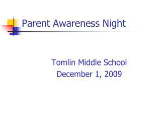 Parent Awareness Night