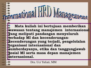 International HRD Management