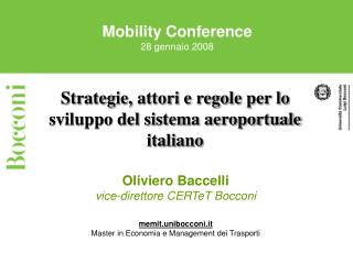 Mobility Conference 28 gennaio 2008