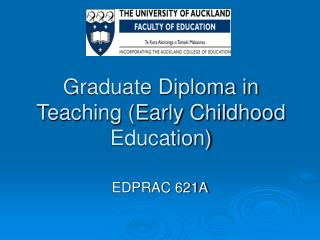 Graduate Diploma in Teaching Early Childhood Education
