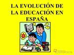 La evolucion de la educacion