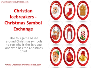 Christian Icebreakers - Christmas Symbol Exchange