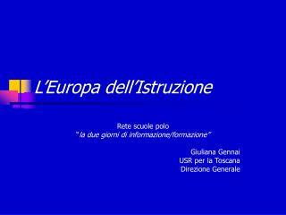 L Europa dell Istruzione