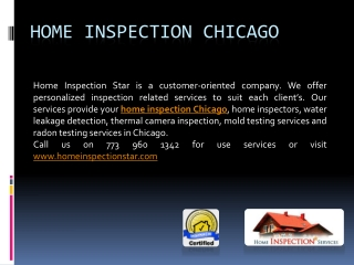 Home Inspection Services with Customized Option in Chicago