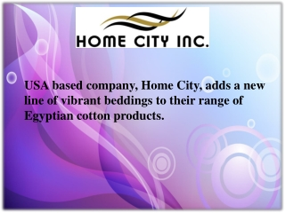 USA based company, Home City, adds a new line of vibrant bed