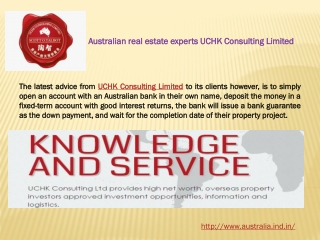 Australian real estate experts UCHK Consulting Limited