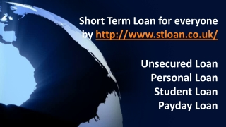 Short Term Loan Lenders, UK
