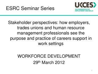 ESRC Seminar Series