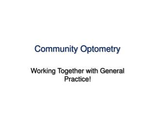 Community Optometry