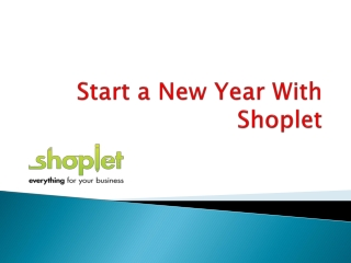 Start a new year with shoplet