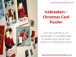 Icebreakers - Christmas Card Puzzler