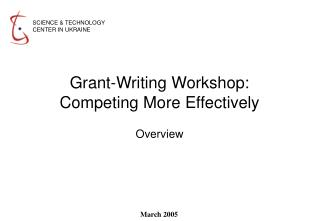 Grant-Writing Workshop:  Competing More Effectively
