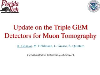 Update on the Triple GEM Detectors for Muon Tomography