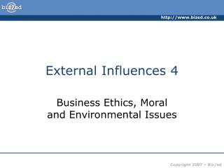 external influences 4