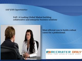 SAP Recruiter Daily -A Niche site for SAP professionals