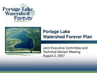 Portage Lake  Watershed Forever Plan