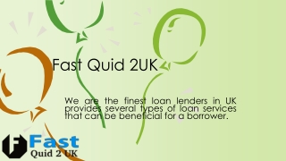 Fast Quid 2 uk a loan destination