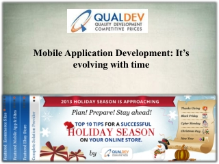 Mobile Application Development: It