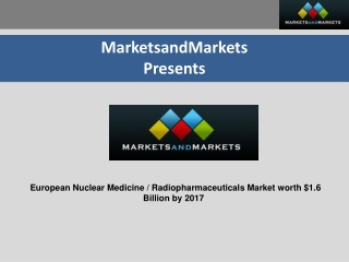 European Nuclear Medicine/Radiopharmaceuticals