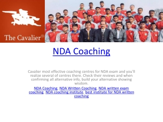NDA Coaching
