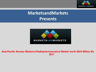 Asia-Pacific Nuclear Medicine/Radiopharmaceuticals