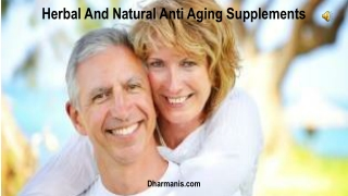 Herbal And Natural Anti Aging Supplements
