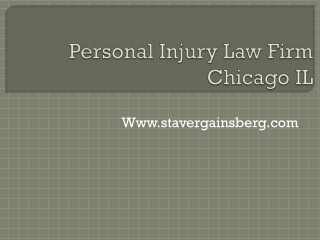 Personal Injury Law Firm Chicago IL
