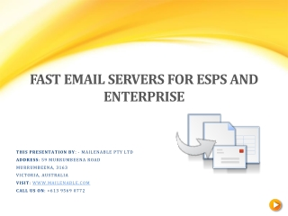 Fast Email Servers for ESPs and Enterprise
