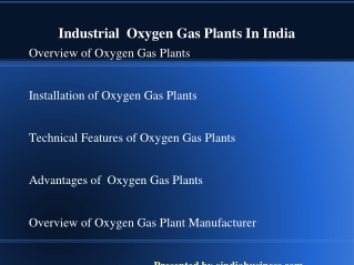 Top level oxygen gas plant suppliers in india