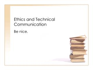 ethics and technical communication