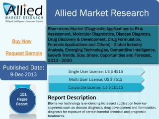 Biomarkers markets opportunities and forecast 2013-2020