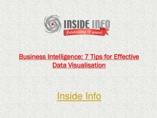 Business Intelligence: 7 Tips for Effective Data Visualisati