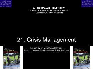 21. crisis management