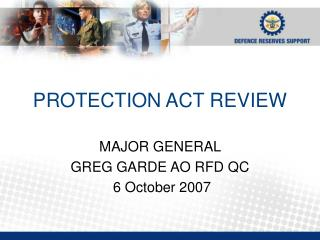 PROTECTION ACT REVIEW