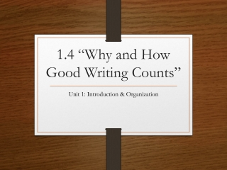 does good writing matter