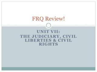 FRQ Review