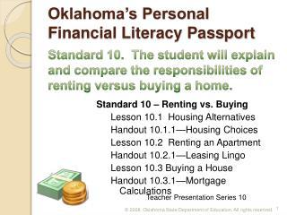 Oklahoma s Personal Financial Literacy Passport