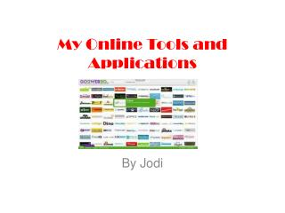 My Online Tools and Applications