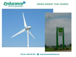 GREEN ENERGY THAT WORKS