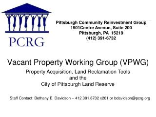 Vacant Property Working Group VPWG