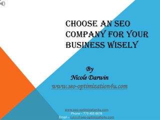 CHOOSE AN SEO COMPANY FOR YOUR BUSINESS WISELY