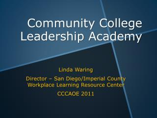 Community College Leadership Academy