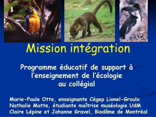 Mission int gration