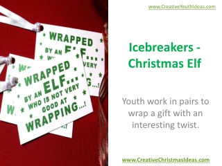Icebreakers - Christmas Elf