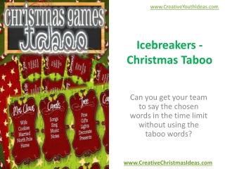 Icebreakers - Christmas Taboo