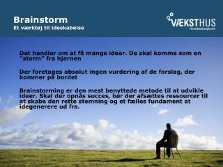 Brainstorm  Et v rkt j til ideskabelse