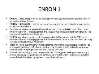 ENRON 1