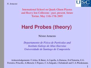 Hard Probes theory