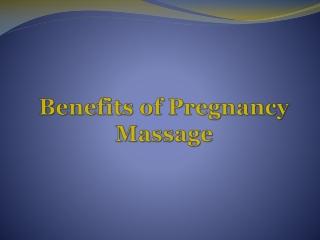 Pregnancy Massage in Perth – A Necessity