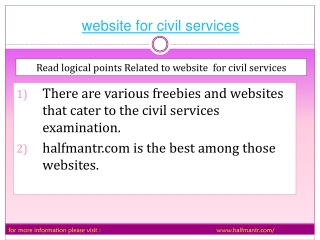 We make you fully aware About website for civil services